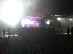 Main stage in the dark