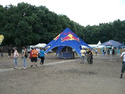 RedBull stand and VIP area